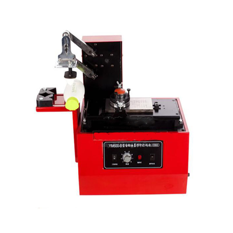 ym600-b 110v 220V Environmental Desktop Electric Pad Printer Round Pad Printing Machine Ink Printer baterady pneumatic electric pad printing machine spare part ink cup tungsten steel ring odxidxh mm