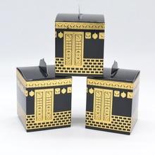 Festiwal muślin Kaaba design sztancowanie złota folia hajj box