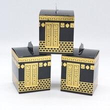 Муслиновый фестиваль Kaaba дизайн высечка золотой фольги хадж коробка