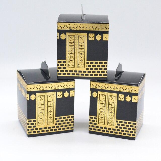 Musselina festival caaba design morrer corte folha de ouro hajj caixa