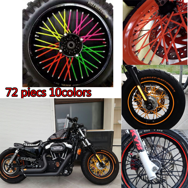 Motocross Spoke Skins Wheel Rim Spoke Covers for ktm SX 125 250 For KAWASAKI klx 250 KLX450R kx 85 for suzuki rmx 250 dr250 концентрат health