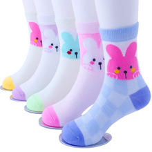 5Pairs / Lot 1-12 years old childrens socks spring and summer models mesh cotton cartoon thin baby
