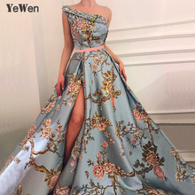 New Sleeveless One-Shoulder Sexy Evening Dresses 2019 Diamond Embroidery Fashion Luxury Formal Royal Gown For Women