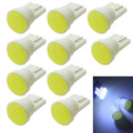 10 piezas de coche LED Interior T10 COB/8SMD W5W cuña puerta lado del instrumento lámpara de bulbo coche luz azul/azul verde/rojo/amarillo/Rosa fuente 12 V