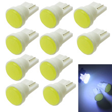 10pcs Car Interior LED T10 COB/8SMD W5W Wedge Door Instrument Side Bulb Lamp Light Blue/Green/red/Yellow/Pink Source 12V