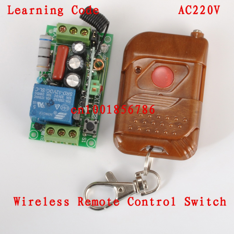 220V 1CH RF Wireless Remote Switch Receiver&Transmitter Light Lamp LED SMD ON OFF Switch10A Relay Momenrary Toggle 315/433.92 g126y 2pcs red led light 25 31mm spst 4pin on off boat rocker switch 16a 250v 20a 125v car dashboard home high quality cheaper