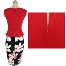 Top selling brand new work dress office half part peplum dress super deal women elegant formal dress