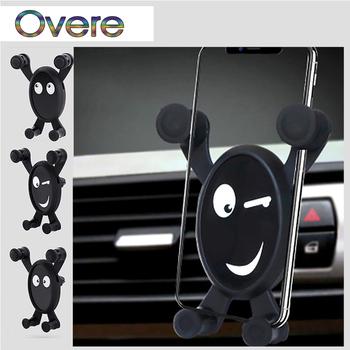 Overe NEW 1PC Car Mobile Phone Holder Bracket Black For Mercedes W205 W203 W211 Volvo XC90 S60 XC60 S80 V40 Alfa Romeo 159 156 image