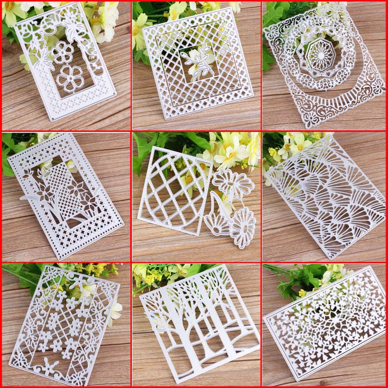 Cards Making Metal Cutting Dies Christmas Frame For DIY Stamp Scrapbooking Photo Album Embossing Paper Decorative Crafts Die Cut