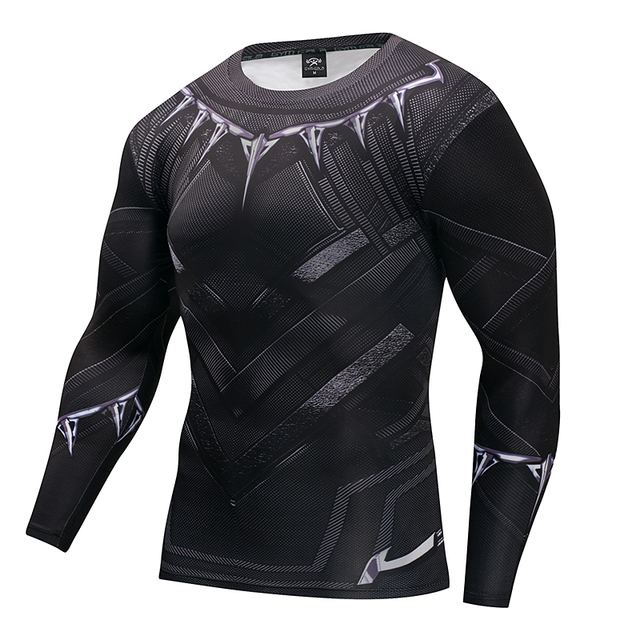7f03de2545d1b Camiseta negra Pantera Capitán América 3 superhéroe invierno soldado 3D  camisetas impresas Fitness hombres Crossfit camisa