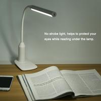 USB Rechargeable LED Desk Lamp Gooseneck Tube Table Lamp lampara de mesa Touch Sensitive Clip Table Light for Reading Studying