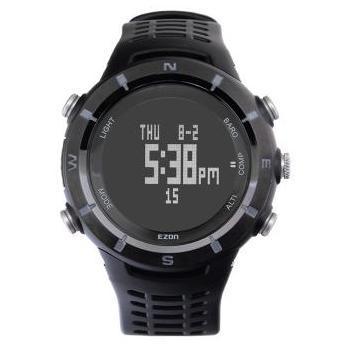 Montre ezon H001C01 étanche bracelet en cuir synthétique polyuréthane résistant aux chocs escalade plongée multifonction hommes montres