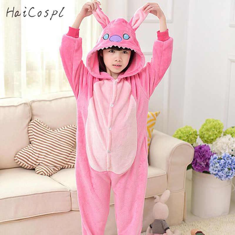Животные пижамы Пижама детская обувь для мальчиков девочек косплэй костюм  вечерние партии розовый кролик кигуруми Дети 609837dcbca20