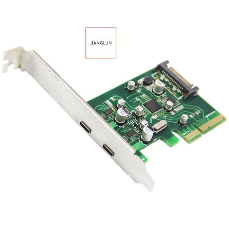JIANGLUN PCI-e à 2 Ports, USB3.1, type-c, cartes d'extension de poste