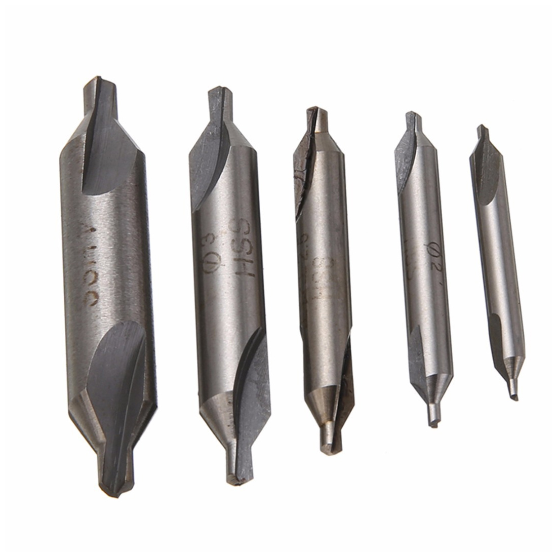 HSS Center Drill Bits Set Precision Combined Countersinks Kit 60 Degree Angle 1/2/3/8mm For Lathe
