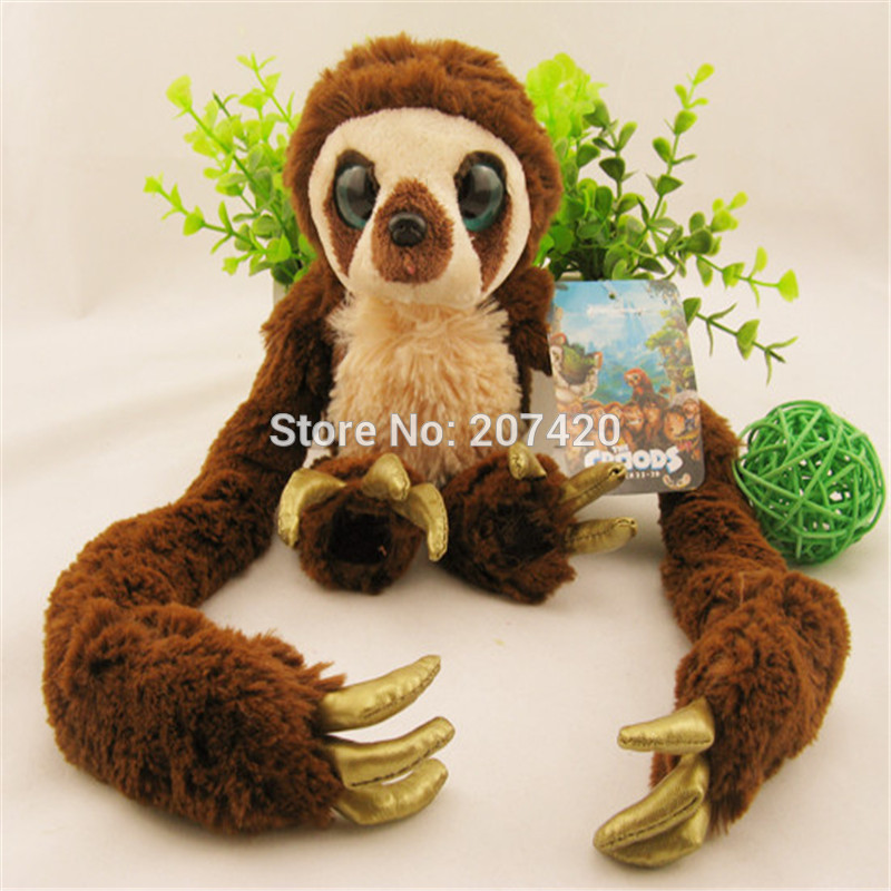 25-65cm Original The Crood Long Arm Monkey Belt Plush Toy Soft Stufffed Dolls Gift For Kids