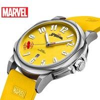 Марвел, Мстители, Паук Мужской силиконовый ремешок Кварцевые водонепроницаемые часы мужские светящиеся календарь Мода Супер время Дисней