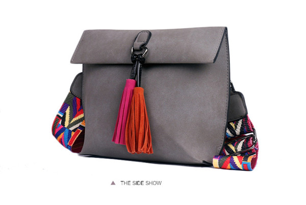 EXCELSIOR Women's Bag Scrub PU Crossbody Bags Luxury Handbags Women Bags Designer bolso mujer Colorful Strap sac a main femme 5
