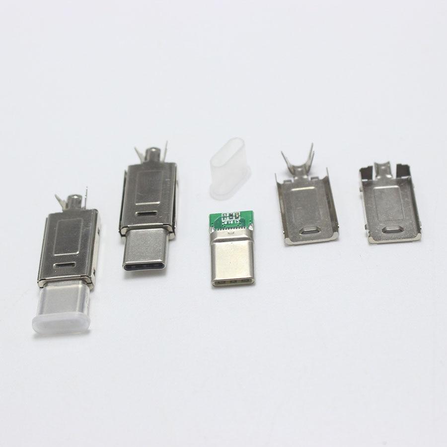 5 set USBC type-c à Type C câble charge rapide bricolage prise pour Samsung Note 9 S9 Xiaomi Mi8 POCOPHONE F1 USB-C chargeur cordon