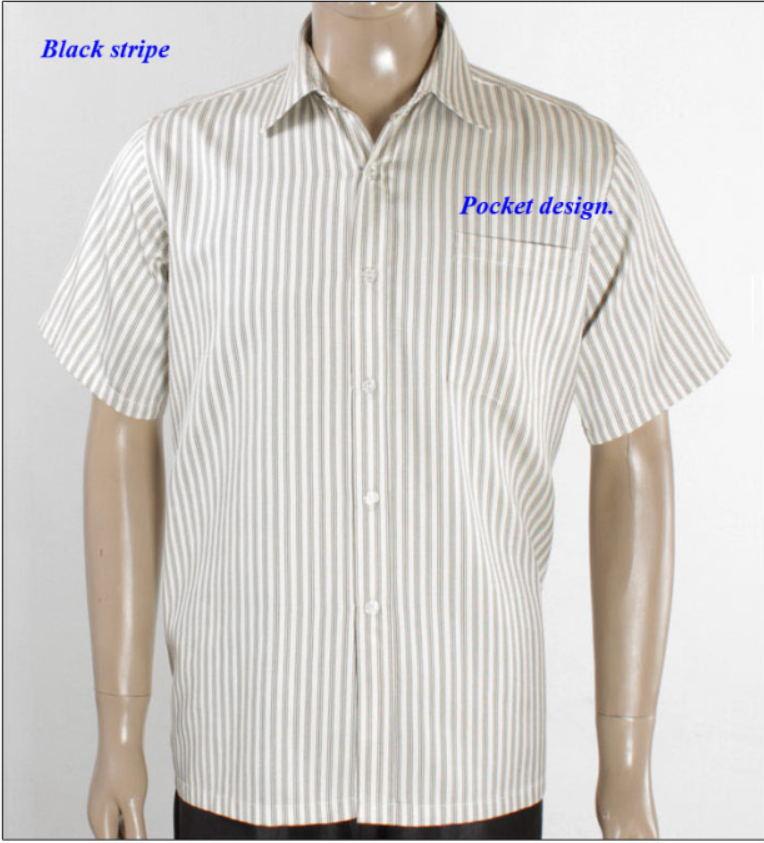6e3b8672e4 Nuovo arrivo puro filato di seta maschio camicia a righe a manica corta,  100% seta naturale gira giù il collare casuale camicie uomo, uomini di seta  top-in ...