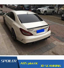 For Benz W218 Spoiler High Quality Carbon Fiber Car Rear Wing Spoiler For Benz W218 CLS300 CLS350 CLS63 Spoiler 2012-2015(China)