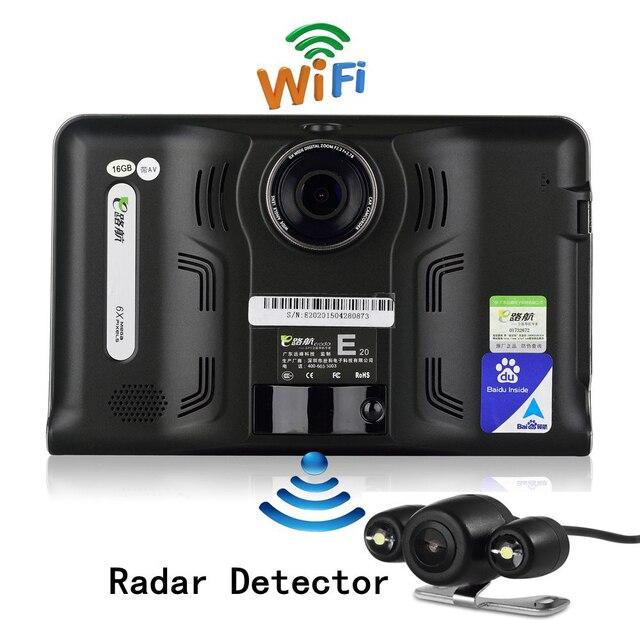 7 дюймов GPS Автомобиля Грузовик Android Wi-Fi GPS Навигации DVR заднего Вида Камера Парковки Радар-Детектор 16 ГБ Бесплатно Онлайн Navi Карта