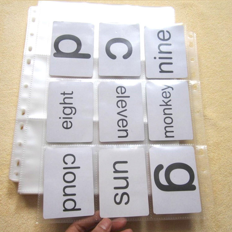 30 hojas bolsillos tarjetas de Comercio de plástico páginas de bolsillo para tarjetas de diario foto postal juego Pokemon tarjetas coleccionar suministros