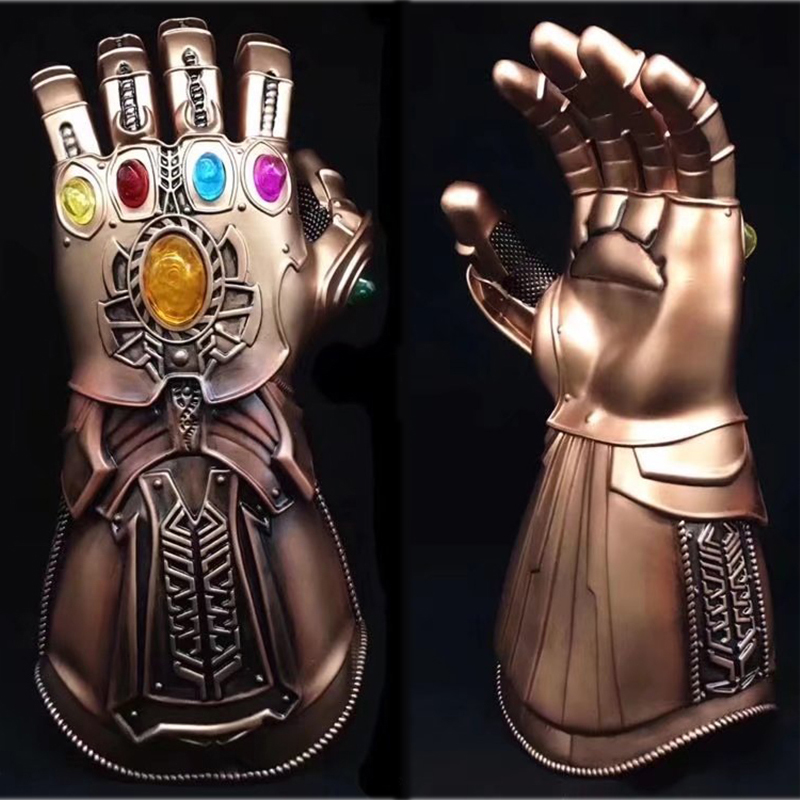 1pc Action Figures Cosplay Avengers Infinity War Thanos model Gauntlet Anime Thanos Glove Infinity Gauntlet figure toys Gift #E marvel avengers infinity war thanos gauntlet action figures cosplay superhero iron man anime avengers thanos glove