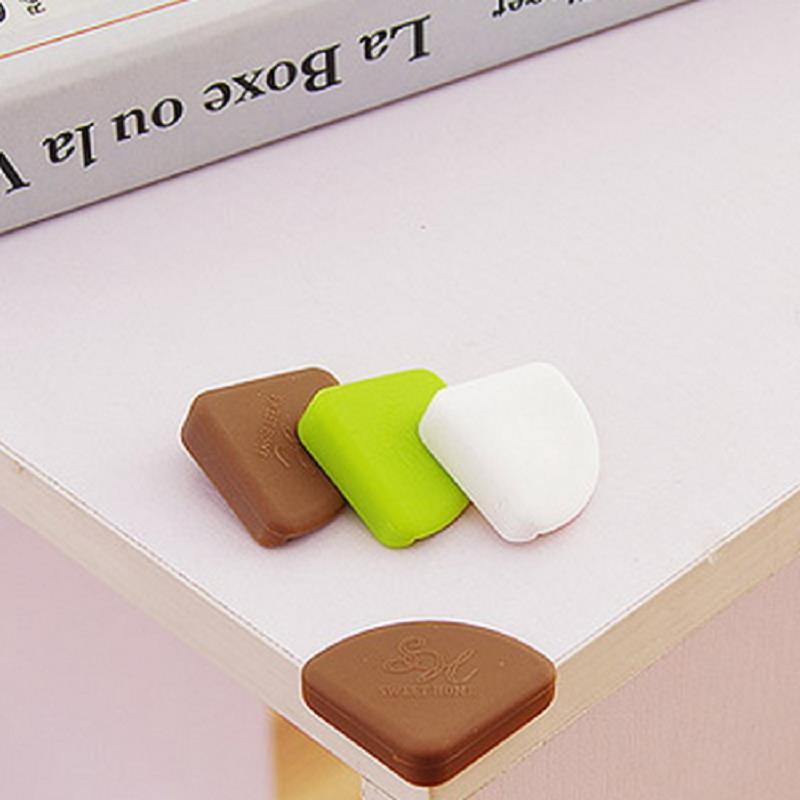 4 PCS Soft Baby Safty Child Silicone Corner Guards Cushion Glass Table Desk  Shelf Furniture Cover