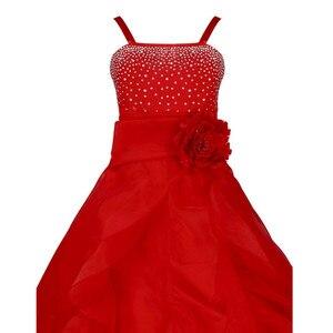 Image 5 - 子供ガールズノースリーブオーガンザのチュチュプリンセスフラワーガールドレス夏の結婚式誕生日パーティーロングドレス初聖体ドレス