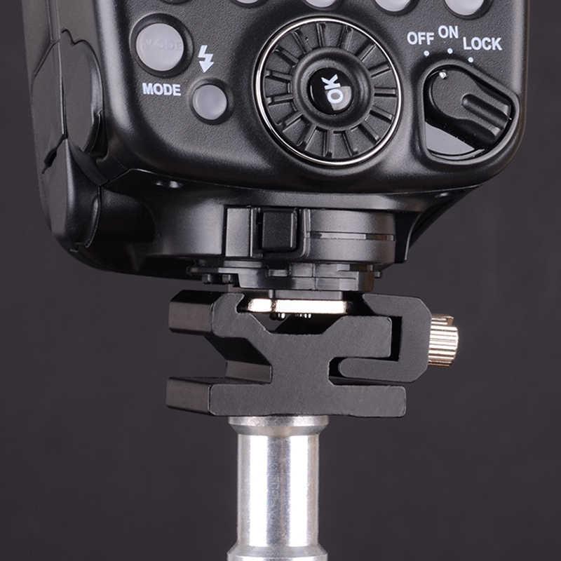 """Métal caméra Flash chaud chaussure montage adaptateur 1/4 """"filetage vis trou adaptateur déclencheur pour trépied Godox Yongnuo Nikon Canon Sony Flash"""