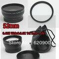 100% GUARANTEE 52MM 0.45X Wide Angle + 2.0X Telephoto Lens + UV Filter for Nikon D3100 D5100D 7000 D5000 D3200  D80 D 90 D3