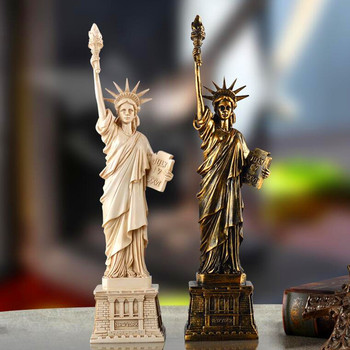 Liberty Enlightening The World Figures Full-Length Portrait Statue Craftwork Desktop Decoration Office G1015