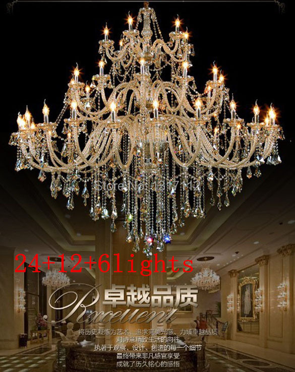 Aliexpress.com : Buy largest crystal chandelier multi lights ...