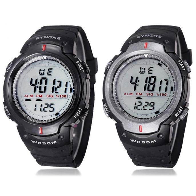 d65caffdccf SYNOKE Men Sport Relógios Eletrônicos LEVARAM Relógio Digital de 50 ...