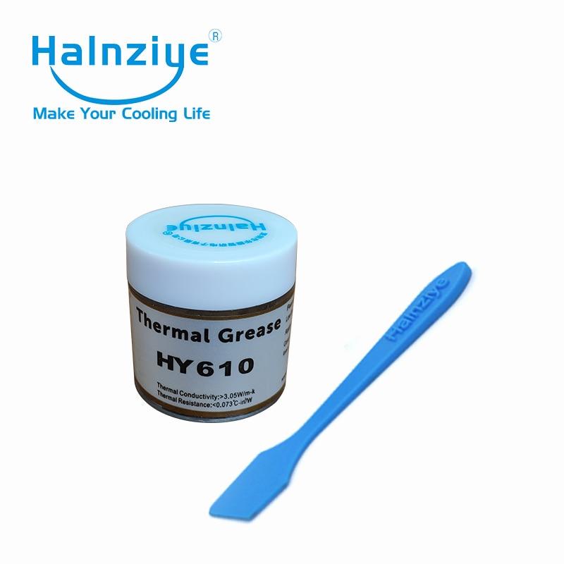 CPU & GPU or silicone graisse thermique dissipateur thermique composé pâte thermique 10g peut baignoire pot HY610 20 pièces avec grattoir
