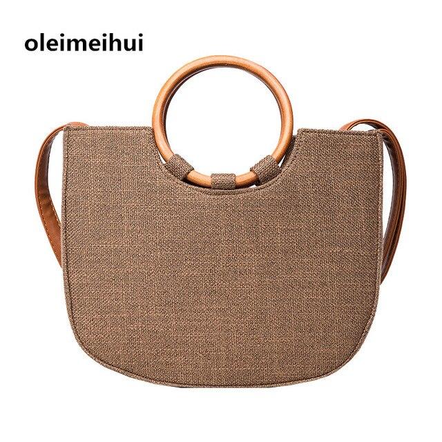 Bolsa De Tecido Redonda : Mulheres marca bolsa senhoras sacola grande saco de