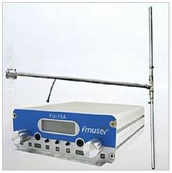 15W CZH-15A CZE-15A FU-15A FM stereo PLL broadcast transmitter FM exciter 88Mhz - 108Mhz + DP100 1/2 wave dipole antenna + Power 0 5w 500mw czh 05b cze 05b fm transmitter kit silver 1 4 wave gp antenna power supply