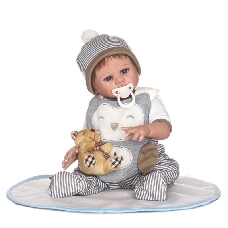 20inch NPK Silicone Reborn Boy Baby Doll Kids Simulate Bathing Playmate Toy