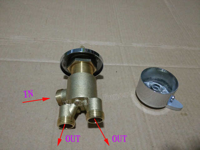 1 in 2 out shower faucet mixing valve , bathtub separator for tap and sprinkler , shower faucet mixer
