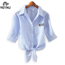 women shirts blouses Striped blouse blusas mujer Korean ladies tops blusas y Plus Size Clothing 4xl Chemise Femme camisa mujer