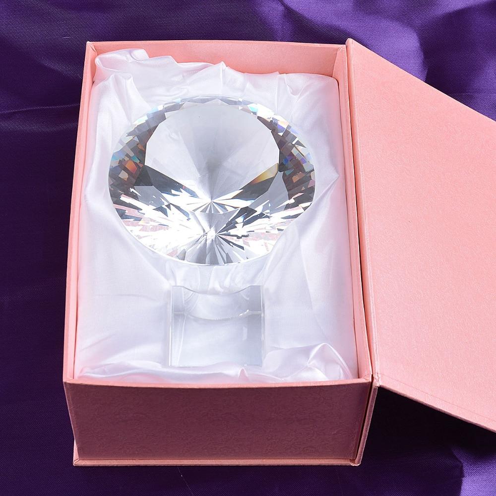 Skickas från USA Clear K9 120mm Crystal Diamond Paper Paperweight - Heminredning - Foto 5