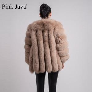 Image 4 - Rose java QC8128 nouveauté femmes vêtements dhiver réel manteau de fourrure de renard naturel veste de fourrure de renard Offre Spéciale grande fourrure à manches longues