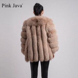 Image 4 - pink java QC8128 new arrival women winter clothes real fox fur coat natural fox fur jacket  hot sale big fur long sleeve