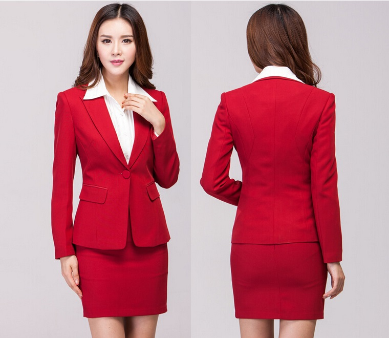 Online Buy Wholesale office uniform for women red from China ...