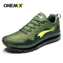 ONEMIX Men's Sport Running Shoes Music Rhythm Men Sneakers Breathable Mesh Outdoor Athletic Shoe Light Male Jogging Shoe 39-47