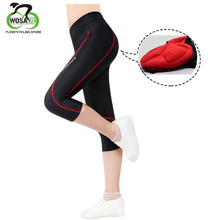 цена на WOSAWE Anti-sweat Breathable Cycling Tights Bicycle Pants Bike Cycling Riding Clothing GEL Padded Trousers for Women
