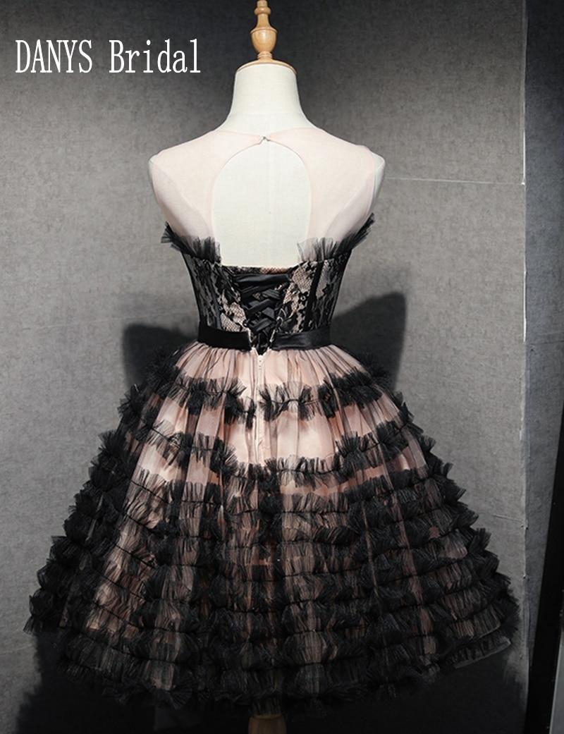 Robes de bal noir rouge court 8e année robes de bal junior haute - Habillez-vous pour des occasions spéciales - Photo 2