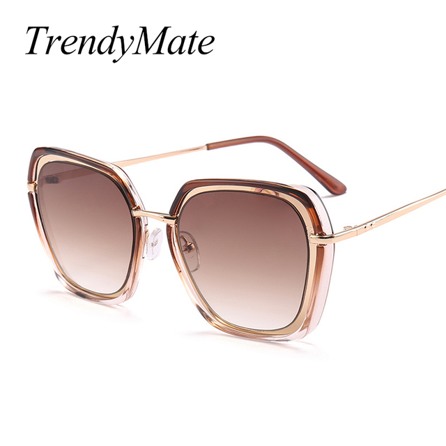 8e8ae8a0cc Italy Brand Designer Women Sunglasses 2018 Newest Fashion Black Sunglasses  Ladies Square Big Frame Alloy Sun Glasses 1163T
