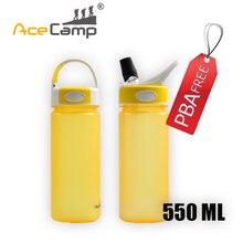 AceCamp Tritan Ambiental Al Aire Libre Botella de Agua de Viaje Hervidor Ciclismo, Camping, Senderismo Cubierta de Polvo Amarillo 550 mL Envío Libre